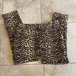 Animal print ankle pants by BR